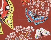 Organic Cotton Fabric - Queen Anns Butterflies - Amy Butler - by the yard - Organic Fabric