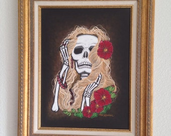 "12x16"" Day of the Dead Original Art - ""The Blonde"""