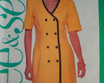 Misses Dress Sizes 18-20-22 See & Sew by Butterick Pattern 5541 Rated Very EASY to Sew - UNCUT Pattern 1991