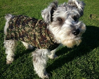 CM.103 - Comfy Cozy Camouflage Dog Sweater