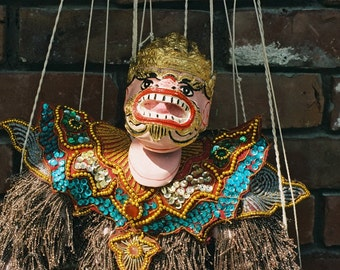 "Myanmar (Burma) Marionette ""The Monkey King - Hannuman"""
