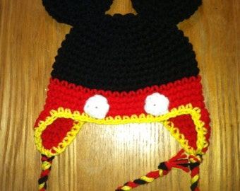 Mickey Mouse Crochet Hat