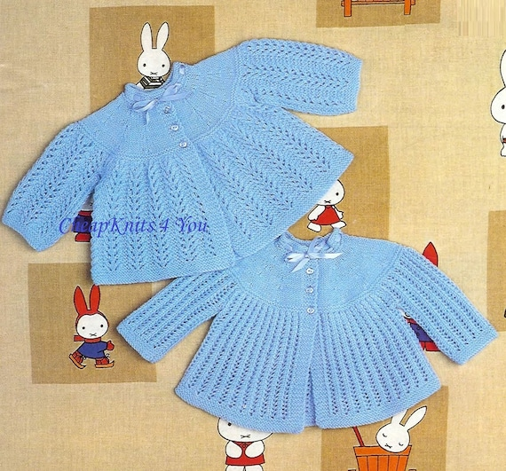Knitting Styles Patterns : Baby matinee jackets styles in ply for size and