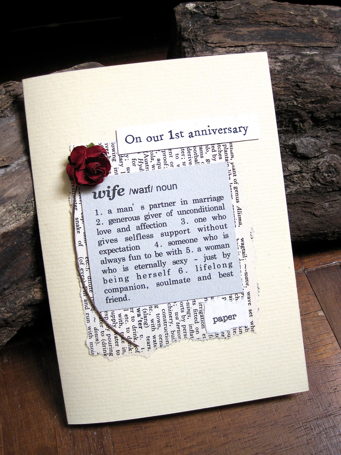 1st anniversary card wife definition first wedding anniversary for Gift ideas for first wedding anniversary to wife