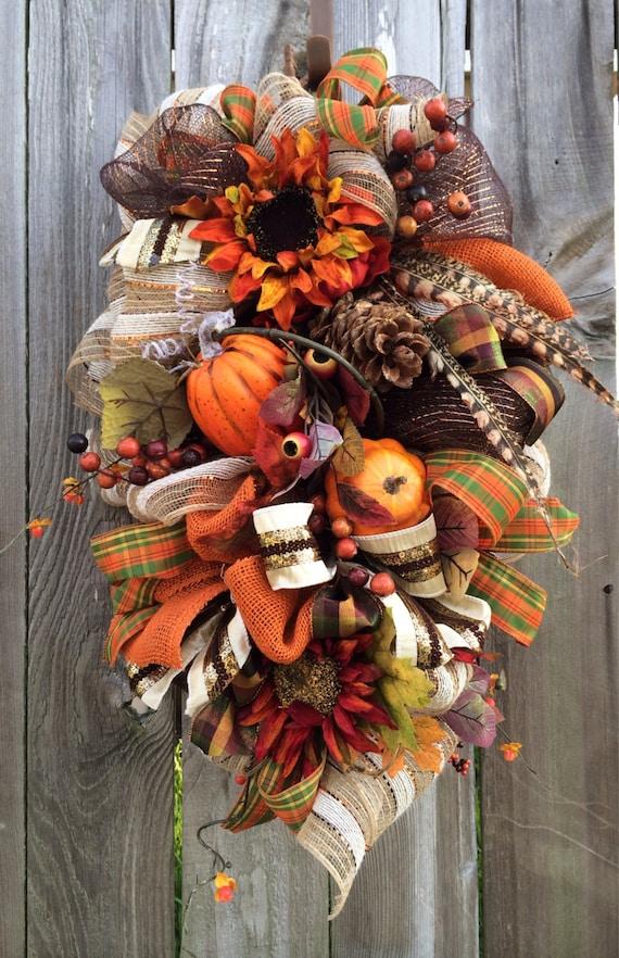 Fall Wreath Fall Swag Autumn Wreath Autumn Swag Fall