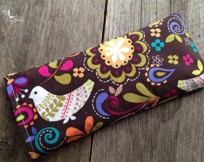 Yoga eye pillow Dove aromatherapy choice savasana shavasana relaxation meditation gear handmade by Creations Mariposa