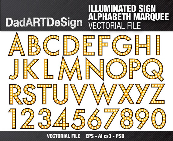 Illuminated Sign Alphabet Letters