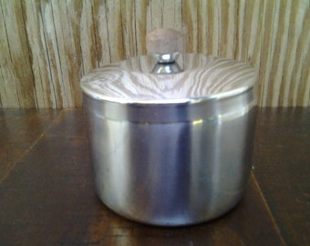 Condiment Container, Stainless Steel, Small  Round Metal dish, Woffinox of Brazil