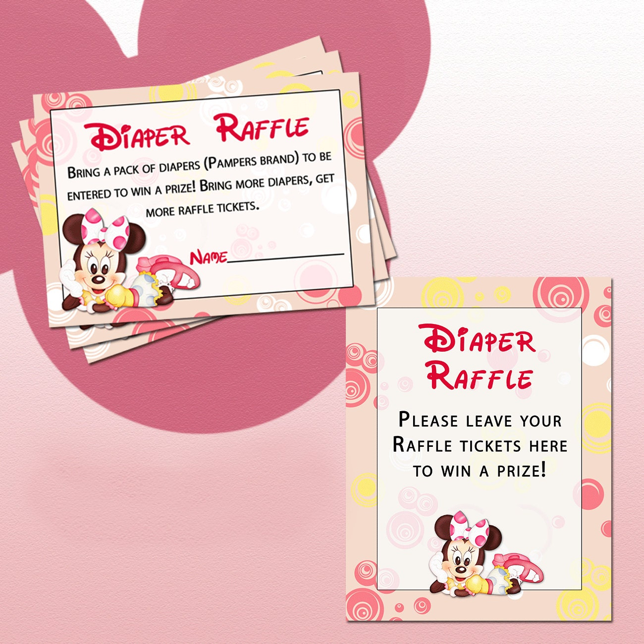 Diaper Raffle Ticket Printable Diaper raffle tickets and