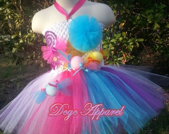 KATY PERRY Candy land inspired Tutu (Kids 2t, 3t, 4t)