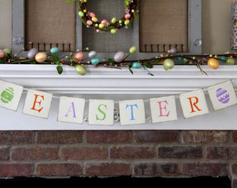 Easter Banner Easter Garland Spring Banner Easter Decor Easter Decoration