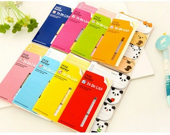 Sale! Korean Cute Animals Sticky Notes Markers To-do List memo Stickers Post-it Filofax 8 styles