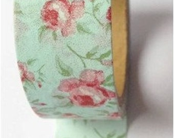 SALE WASHI TAPE--Flower Washi Tape -- Japanese Washi Tape -Deco tape-- 20mm x10M