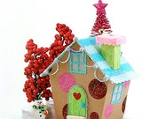 Miniature Christmas Village House PDF Pattern - 'Kandie'