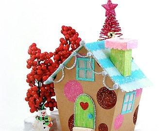 Miniature Christmas Village House PDF Pattern - 'Kandie'