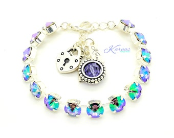 CRYSTAL PARADISE SHINE 8mm Crystal Rivoli Bracelet Made With Swarovski Elements *Pick Your Finish *Karnas Design Studio™ *Free Shipping*