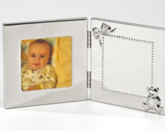 Engraved,  Hinged Baby  Picture  Photo Frame Custom Personalized
