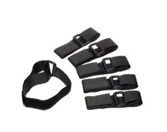 D-Ring Adjustable Multi-Purpose Velcro Quick Straps (6pc and 12 pc)