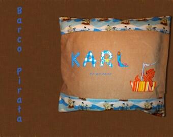 """Name-Pillow case """"Barco Pirata"""""""
