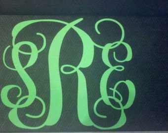 Monogramm decal for car or computer