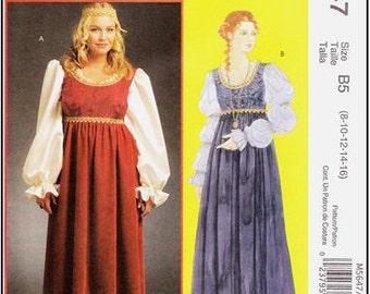McCall's 5647 Misses' Renaissance Costume Pattern, 8-16