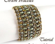 Tutorial Tirion Bracelet, SuperDuo or TwinBeads beaded bracelet, beadwoven pattern, handmade bracelet, pdf tutorial for personal use