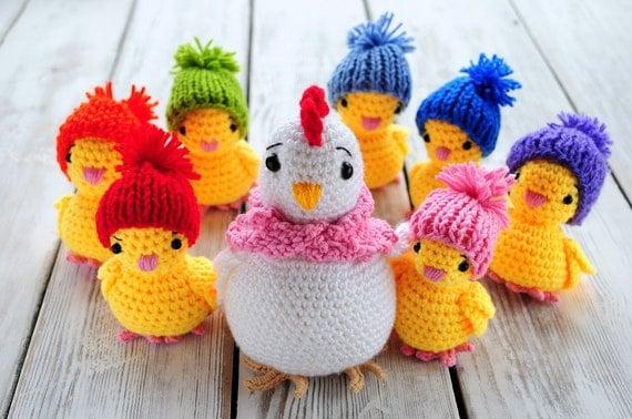 Схема вязания амигуруми курица