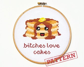 Pancakes Cross Stitch Pattern