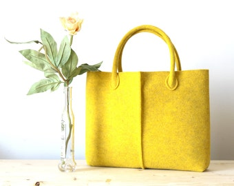 Discount: ORIGINAL PRICE 92,67 DOLLARS - Elegant and Casual Felt Bag from Italy, Tote Bag, Felted bag, Market Bag, Felt Tote.