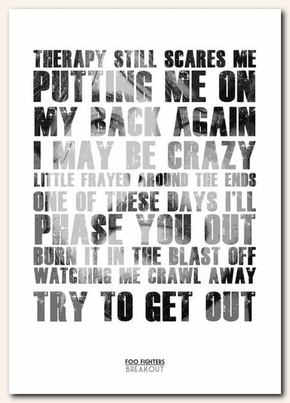 Poster Song Lyrics Song Lyric Unframed Poster