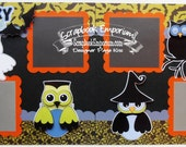 Scrapbook Page Kit Halloween Owls 2 page Scrapbook Layout 110