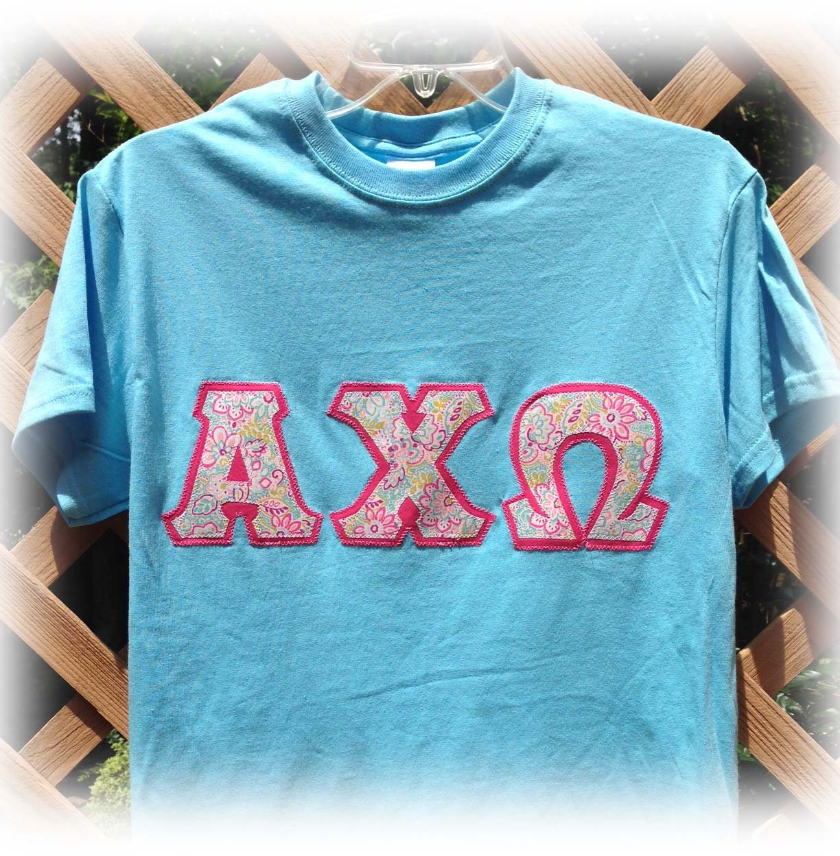 Items similar to greek stitch letter shirt on etsy for Custom greek letter t shirts