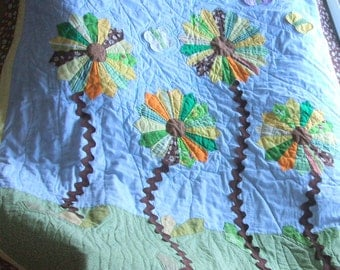 dresden butterfly sunshine flower garden quilt