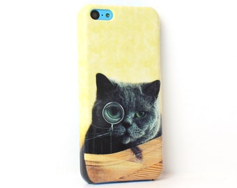 Monocle Cat iPhone 6 case iPhone 6s case iPhone 6 plus case iPhone SE case iPhone 5c case iphone 5 case 1P049A