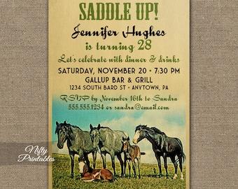 Equestrian invites Etsy