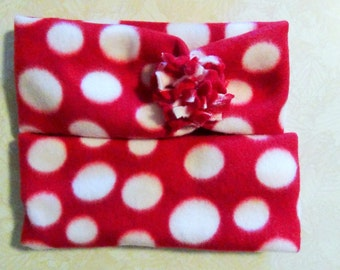 Sale 6 00 for two headbands mommy and me red and white polka dot
