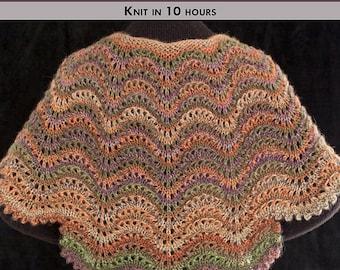 SUMPTUOUS SCALLOPS Knit Shawl Pattern [Digital File Download]