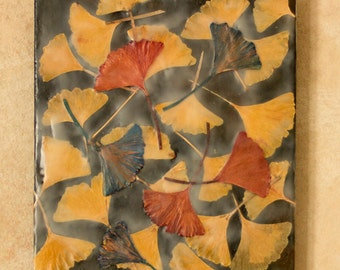 Original encaustic painting - gingko