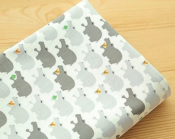 Oxford Cotton Fabric Hippo Gray By The Yard