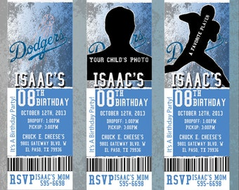 Custom Dodgers Birthday/Event Invitation!