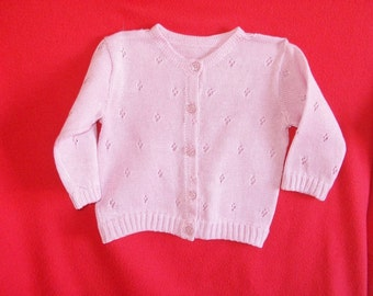cotton wool knit baby sweater