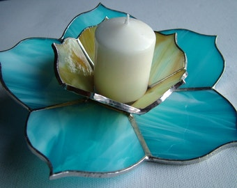 Tiffany flower Candle holder from Model Azure Dream furniture handmade