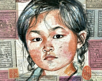 The little girl from Xinjie - China