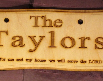 """Engraved Wooden """"House Name Plate"""""""