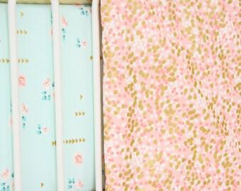 Coral & Gold Sparkle Blanket