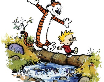 Calvin and Hobbes Log Walking Print