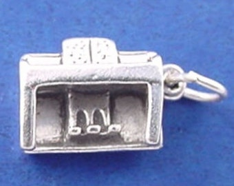 UPRIGHT PIANO Charm, Musical Instrument .925 Sterling Silver Charm