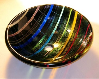 One-Of-a-kind-Glass Sink -FREE SHIPPING - the art in washing hands-