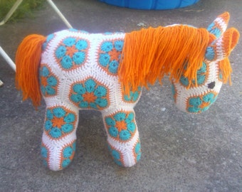 Crochet African Flower Horse Pattern : Popular items for fatty lumpkin on Etsy