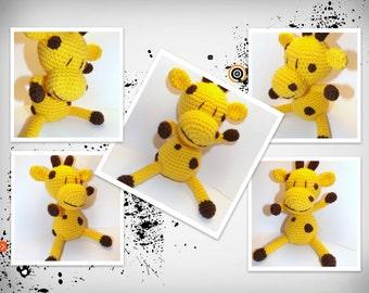 Crochet Amigurumi, Amigurumi Pattern, Crochet pattern, Amigurumi Giraffe pattern, Crochet Giraffe pattern, Doll pattern